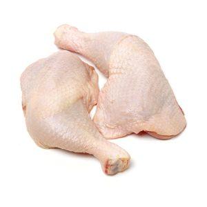 two raw chicken legs