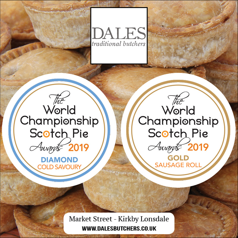 The Dales Butchers awards presented at the World Scotch Pie Awards 2019