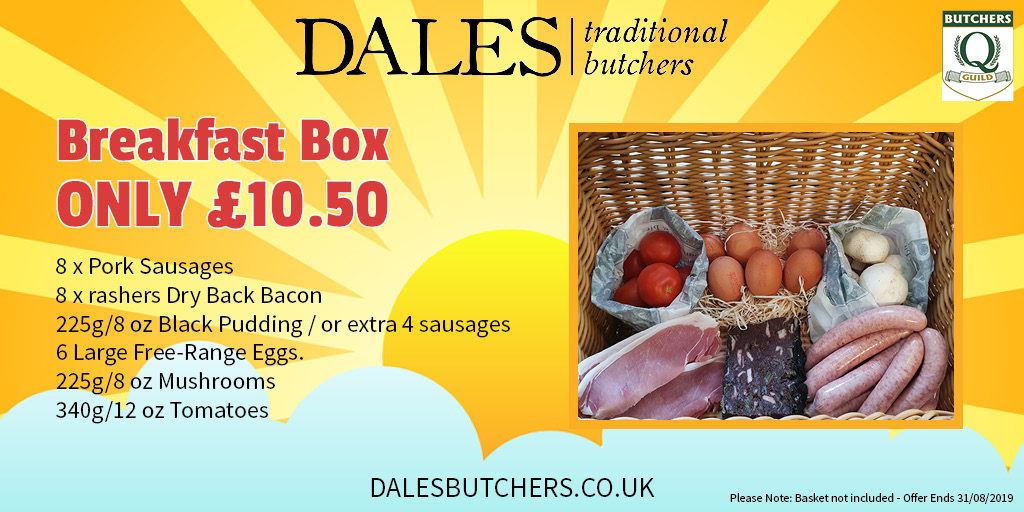 a breakfast box offer at dales butchers