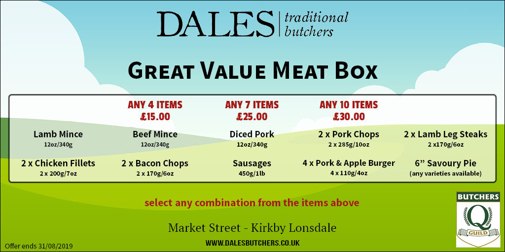 a multi buy meat box offer at dales butchers