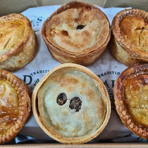 a selection box of Dales Butchers award-winning pies